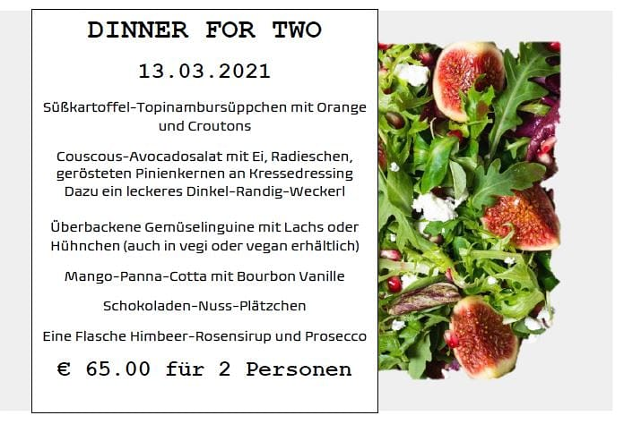 Dinner for Two - 13.03.2021
